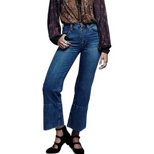 Free People Hopkin Crop Wide Leg Jeans